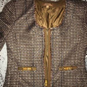 Ellen Tracy gold-bronze blazer orig $398